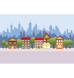 Cartoon town vector