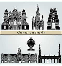 Chennai landmarks and monuments vector