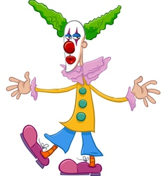 Circus clown character cartoon vector