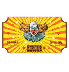 Circus ticket template invitation coupon with vector