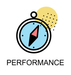 compass icon for performance on white background vector image