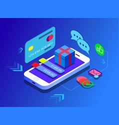 Concept e-commerce sales online shopping vector