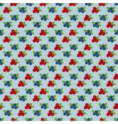 Cranberry and blueberry seamless pattern 4 vector image
