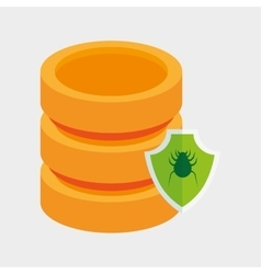 data server protection virus shield icon vector image