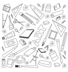 doodle set art vector image