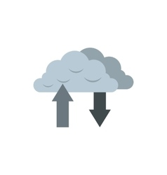 Download and upload from cloud icon vector