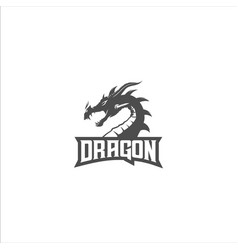 Dragon silhouette logo vector