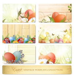 easter vintage template collection vector image vector image