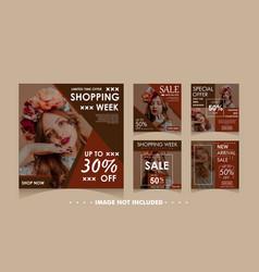 fashion sale banner set template vector image