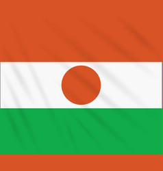 Flag niger swaying in wind vector
