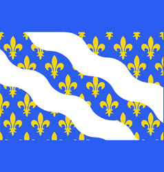 Flag of yvelines in ile-de-france france vector