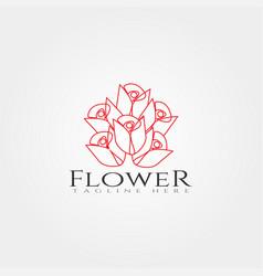 Flowers icon creative logo design vector