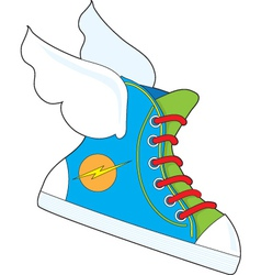 flying sneaker vector image