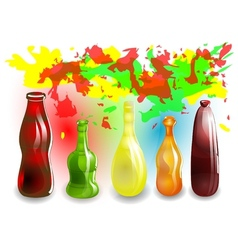 funny colored drinks vector image