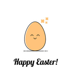 funny easter happy egg vector image