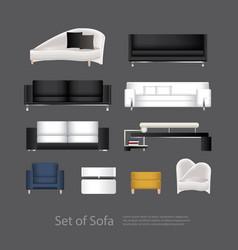 furniture set of sofa vector image
