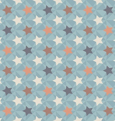Geometric retro pattern vector image