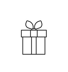 gift box online icon marketing icon thin line vector image