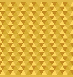 golden seamless triangle pattern vector image vector image