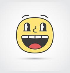 happy emoji face with big eyes eps10 vector image