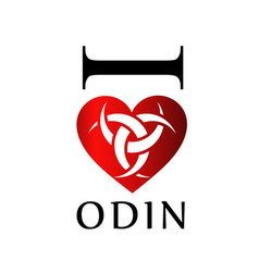 i love odin- the graphic is a symbol of the horns vector image