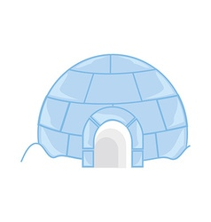 Ice house igloo vector
