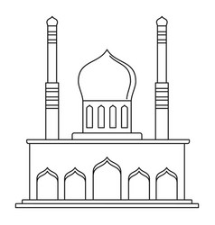 Islam temple icon outline style vector