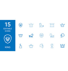 King icons vector