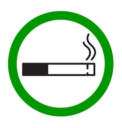 label smoking place vector image