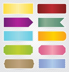 Labels Tags Banners With White Border Design vector image