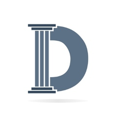 Letter D logo or symbol icon vector image