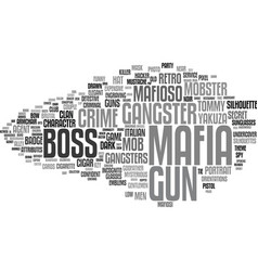 Mafia word cloud concept vector