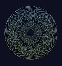Mandala element spiritual harmony tribal vector