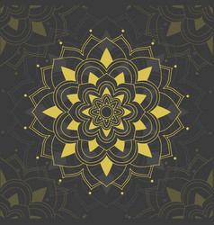 Mandala patterns on gray background vector