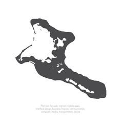 map kiribati isolated black vector image