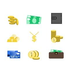 Money icons set Money sign cash Saving cash and vector image