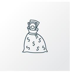 money sack icon line symbol premium quality vector image