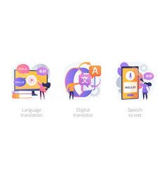 Multi-language translation devices concept vector