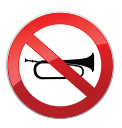 no sound sign keep quiet symbol loud sounds ban vector image