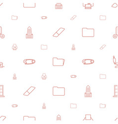 Office icons pattern seamless white background vector