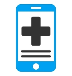 Online Medical Data Icon vector