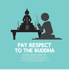 Pay respect to the buddha vector