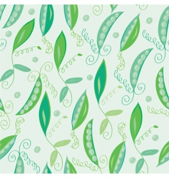 pea pod seamless green pattern vector image