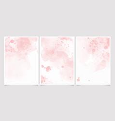 pink watercolor wet wash splash 5x7 invitation vector image