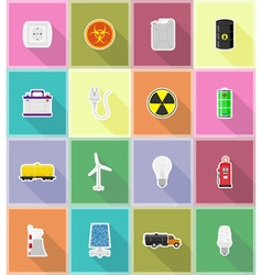 Power and energy flat icons 18 vector