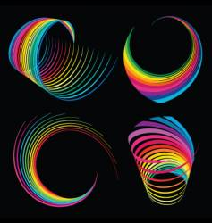 rainbow ribbons vector image