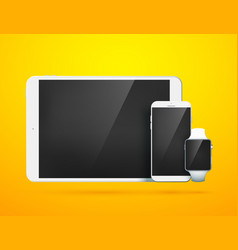 realistic digital devices collection vector image