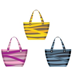 Set of beach bags vector image vector image