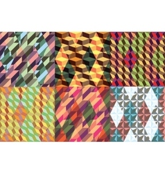 Set of seamless geometrical patterns vector