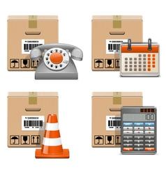 Shipment Icons Set 13 vector image